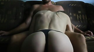 Young Wife Was Fucked In Wet Pussy On The Couch - Amateur Couple