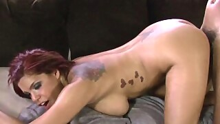 Latina Redhead Enjoys Interracial Dick