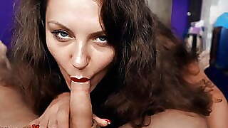 Busty Sofia Curly Suck My Huge Cock And Jerk Off Pov Oral
