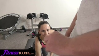 Fitness Rooms Fit Sporty Russian Flirting In Gym Loves Thick Cock