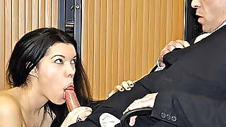 She Gets Fucked By The Bank Manager