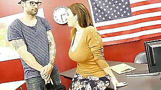 Plump Professor Sara Jay Fucked And Cummed On By Hard Student