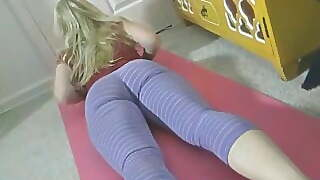 Hot Stepmom Loves Yoga And Hot Sex
