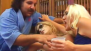 Ron Jeremy Is Fucking 2 Blonde Bitch