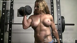 Ripped Redhead Naked Female Bodybuilder Turns You On