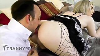 Hot Trans Maid Leads Guy To Cheat On Wife