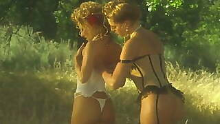 Retro Lesbians The Hot And Horny Milf Licks: First The Bath