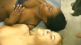 Young Black And White Girl Doing Anal
