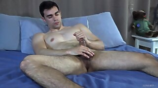 Activeduty - Amateur Hunk Strokes His Thick Pierced Cock