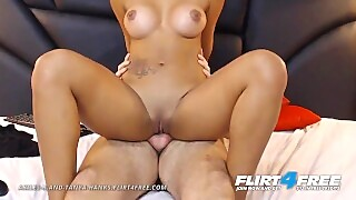Akiles R And Tanya Hanks On Flirt4free - Babe Slams Bfs Face And Gets Fucked