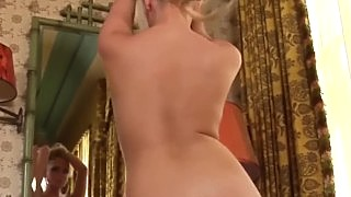 Big Natural Boobed Brittany Teases In Fishnets