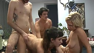Oral Sex Clinic Becomes Hardcore Group Orgy