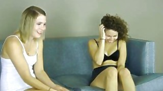 Two Teens Play A Strip Game That Is Certain To Get These Pussy Juices Flowi