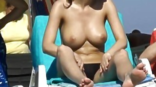 Various Nude And Semi Nude Girls From The Beaches Of Spain