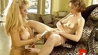 Milf Chantz Fortune Shares Dildo With Young Lesbian Beauty