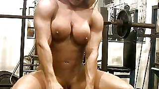 Blonde Naked Muscle Porn Star Masturbates Her Big Clit