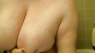Pouring Icy Wine Over My Huge Natural Tits Bbw