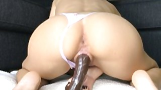 Wet Amateur Teen Riding And Cumming All Over Huge Dildo