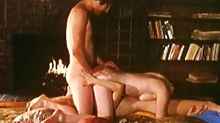 Threesome By The Fireplace