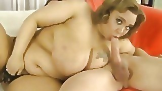 Cute Plumper Uses Her Her Mouth And Cunt To Please A Cock
