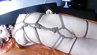Rope Bondage Ball Gaged Teen
