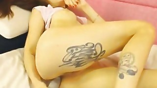 Hot Tattoo Teen Having A Nice Show