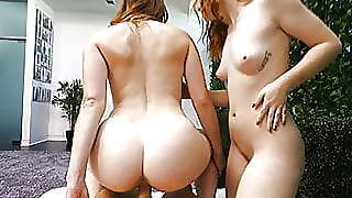 Creampie Two Redheads Having A Intense Threesome