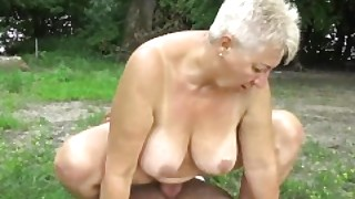 69 Years Old Bbw Grannie Outdoor Banged