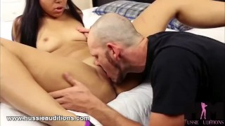Hussie Auditions Ebony 18 Year Old Adriana Mayas First Sex Scene