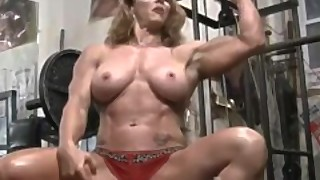 Sexy Red Headed Female Bodybuilder Muscle