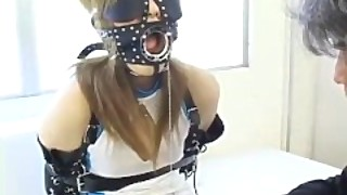 Asian Bdsm With Erotic Kinky Fetish Gear On Submissive Japanese Teen