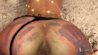 Got My Ass Painted And Fucked From Behind Best Creampie
