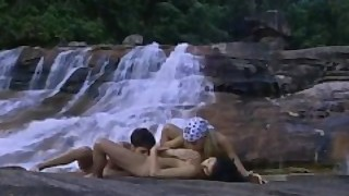 Wet Lesbians On The Waterfall