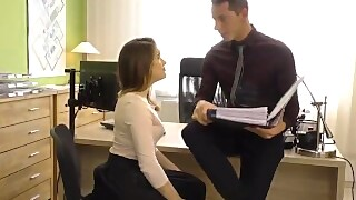 Office Chick Gets Pounded In Hardcore Fashion