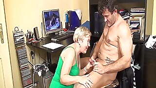 Caught Jerking Off By Horny Grandma