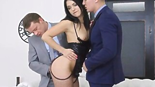 Amazing Teen Slut Jessica Lincoln Gets Double Penetrated