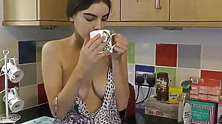 Hot Ass Brunette Babe Dancing And Shaking Her Beautiful Tits