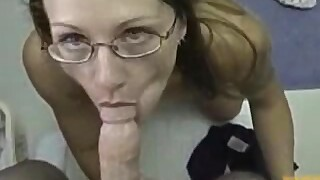 Nerdy whore needs her daily candy