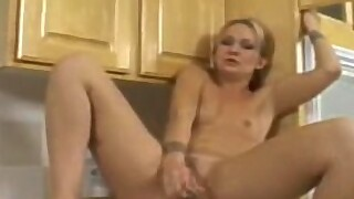 Katie Gold naughty in the kitchen