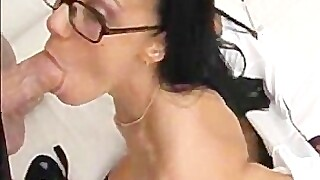 Hot tight college chick sucking, fucking and sucking again