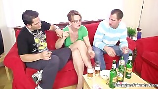Mature Fucking with Two Guys