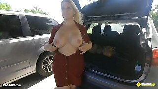 Roadside - Thick Blonde Milf Fucked By Roadside Assistance