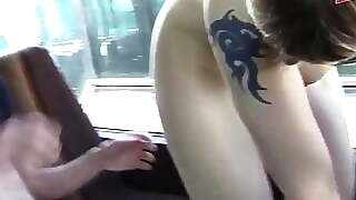 German groupsex party in the bus with teen newbie sluts