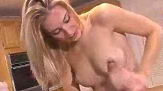 Incredible lubed up handjob and blowjob