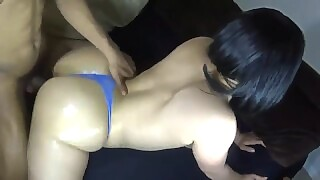 Big Booty Redbone In A Thong And Getting Smashed