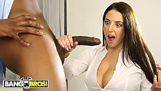 Busty Angela White Takes A Big Black Cock In Her Ass
