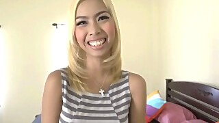 Hot Blonde Thai Girl Creampied