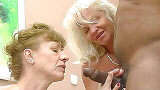 Two Grannies Want His Cock