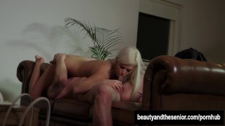 Beauty Blonde Teen Gets Fucked By An Old Guy