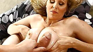 Titty Fucked Cougar Julia Ann Gets Lubed Cock Between Boobs
